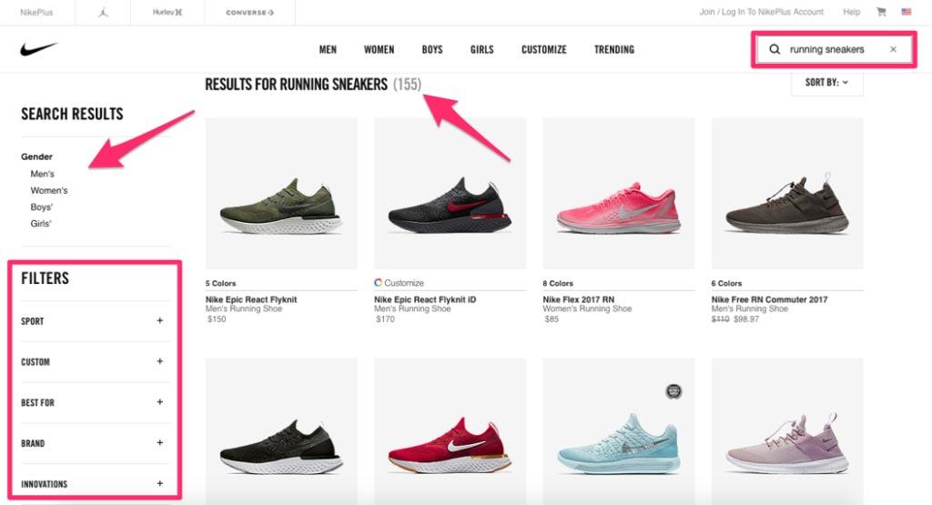 نمونه پیاده سازی جستجو در فروشگاه اینترنتی